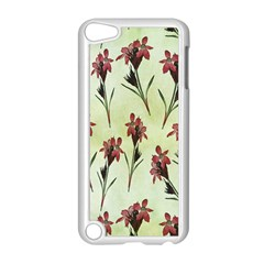 Vintage Style Seamless Floral Wallpaper Pattern Background Apple iPod Touch 5 Case (White)