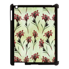Vintage Style Seamless Floral Wallpaper Pattern Background Apple iPad 3/4 Case (Black)
