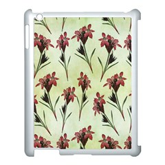 Vintage Style Seamless Floral Wallpaper Pattern Background Apple iPad 3/4 Case (White)