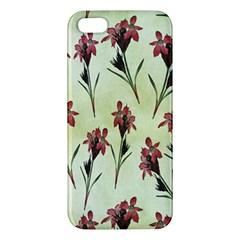 Vintage Style Seamless Floral Wallpaper Pattern Background Apple iPhone 5 Premium Hardshell Case