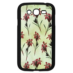 Vintage Style Seamless Floral Wallpaper Pattern Background Samsung Galaxy Grand DUOS I9082 Case (Black)