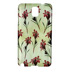 Vintage Style Seamless Floral Wallpaper Pattern Background Samsung Galaxy Note 3 N9005 Hardshell Case