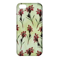 Vintage Style Seamless Floral Wallpaper Pattern Background Apple iPhone 5C Hardshell Case