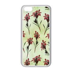 Vintage Style Seamless Floral Wallpaper Pattern Background Apple iPhone 5C Seamless Case (White)