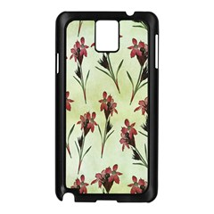 Vintage Style Seamless Floral Wallpaper Pattern Background Samsung Galaxy Note 3 N9005 Case (Black)