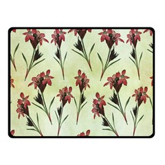 Vintage Style Seamless Floral Wallpaper Pattern Background Double Sided Fleece Blanket (Small)
