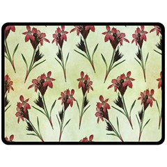 Vintage Style Seamless Floral Wallpaper Pattern Background Double Sided Fleece Blanket (large)