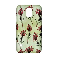 Vintage Style Seamless Floral Wallpaper Pattern Background Samsung Galaxy S5 Hardshell Case