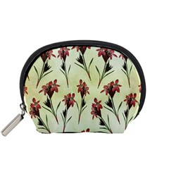 Vintage Style Seamless Floral Wallpaper Pattern Background Accessory Pouches (small)