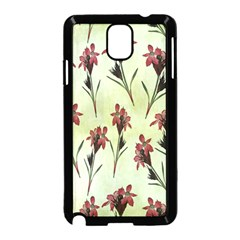 Vintage Style Seamless Floral Wallpaper Pattern Background Samsung Galaxy Note 3 Neo Hardshell Case (Black)