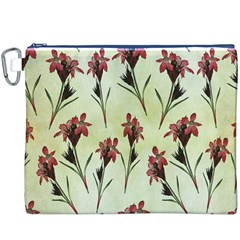 Vintage Style Seamless Floral Wallpaper Pattern Background Canvas Cosmetic Bag (XXXL)