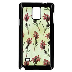Vintage Style Seamless Floral Wallpaper Pattern Background Samsung Galaxy Note 4 Case (Black)