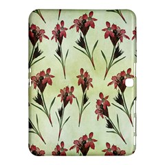 Vintage Style Seamless Floral Wallpaper Pattern Background Samsung Galaxy Tab 4 (10.1 ) Hardshell Case