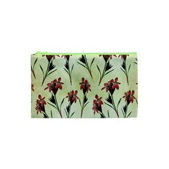 Vintage Style Seamless Floral Wallpaper Pattern Background Cosmetic Bag (xs)