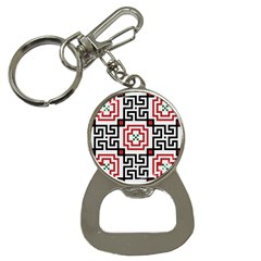 Vintage Style Seamless Black, White And Red Tile Pattern Wallpaper Background Button Necklaces