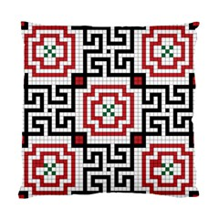 Vintage Style Seamless Black, White And Red Tile Pattern Wallpaper Background Standard Cushion Case (one Side)