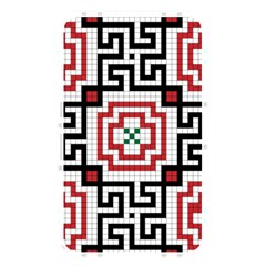 Vintage Style Seamless Black, White And Red Tile Pattern Wallpaper Background Memory Card Reader