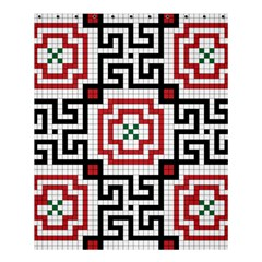 Vintage Style Seamless Black, White And Red Tile Pattern Wallpaper Background Shower Curtain 60  X 72  (medium)