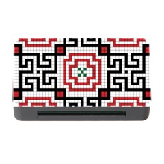 Vintage Style Seamless Black, White And Red Tile Pattern Wallpaper Background Memory Card Reader with CF