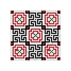Vintage Style Seamless Black, White And Red Tile Pattern Wallpaper Background Acrylic Tangram Puzzle (4  X 4 )