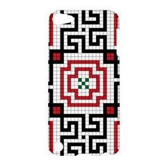 Vintage Style Seamless Black, White And Red Tile Pattern Wallpaper Background Apple iPod Touch 5 Hardshell Case