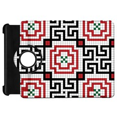 Vintage Style Seamless Black, White And Red Tile Pattern Wallpaper Background Kindle Fire Hd 7