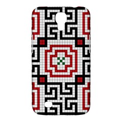 Vintage Style Seamless Black, White And Red Tile Pattern Wallpaper Background Samsung Galaxy Mega 6.3  I9200 Hardshell Case