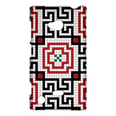 Vintage Style Seamless Black, White And Red Tile Pattern Wallpaper Background Nokia Lumia 720