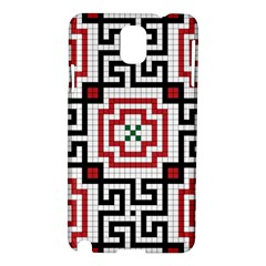 Vintage Style Seamless Black, White And Red Tile Pattern Wallpaper Background Samsung Galaxy Note 3 N9005 Hardshell Case