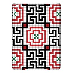 Vintage Style Seamless Black, White And Red Tile Pattern Wallpaper Background iPad Air Hardshell Cases