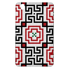 Vintage Style Seamless Black, White And Red Tile Pattern Wallpaper Background Samsung Galaxy Tab Pro 8.4 Hardshell Case