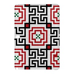 Vintage Style Seamless Black, White And Red Tile Pattern Wallpaper Background Samsung Galaxy Tab Pro 12.2 Hardshell Case
