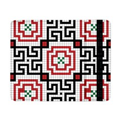 Vintage Style Seamless Black, White And Red Tile Pattern Wallpaper Background Samsung Galaxy Tab Pro 8.4  Flip Case