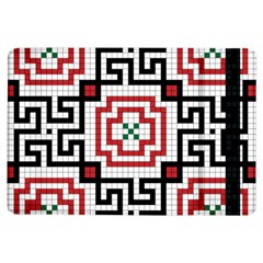 Vintage Style Seamless Black, White And Red Tile Pattern Wallpaper Background iPad Air Flip
