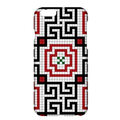Vintage Style Seamless Black, White And Red Tile Pattern Wallpaper Background Apple iPhone 6 Plus/6S Plus Hardshell Case