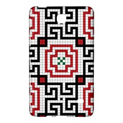 Vintage Style Seamless Black, White And Red Tile Pattern Wallpaper Background Samsung Galaxy Tab 4 (7 ) Hardshell Case