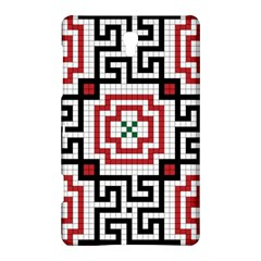 Vintage Style Seamless Black, White And Red Tile Pattern Wallpaper Background Samsung Galaxy Tab S (8 4 ) Hardshell Case