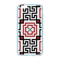 Vintage Style Seamless Black, White And Red Tile Pattern Wallpaper Background Apple Seamless iPhone 6/6S Case (Color)