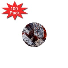 Wooden Hot Ashes Pattern 1  Mini Buttons (100 pack)