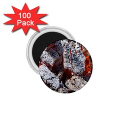 Wooden Hot Ashes Pattern 1 75  Magnets (100 Pack)