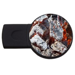 Wooden Hot Ashes Pattern USB Flash Drive Round (2 GB)