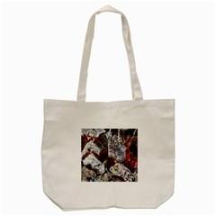 Wooden Hot Ashes Pattern Tote Bag (Cream)
