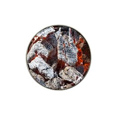 Wooden Hot Ashes Pattern Hat Clip Ball Marker (4 Pack)