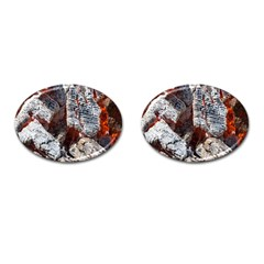 Wooden Hot Ashes Pattern Cufflinks (Oval)