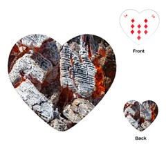 Wooden Hot Ashes Pattern Playing Cards (heart)