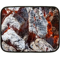 Wooden Hot Ashes Pattern Fleece Blanket (mini)