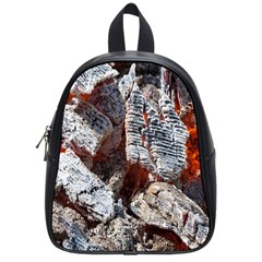 Wooden Hot Ashes Pattern School Bags (small)