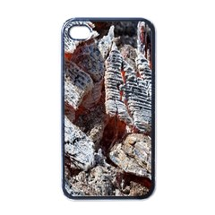 Wooden Hot Ashes Pattern Apple Iphone 4 Case (black)