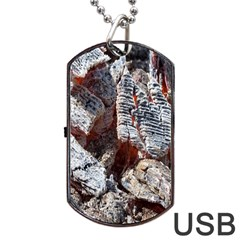 Wooden Hot Ashes Pattern Dog Tag USB Flash (One Side)