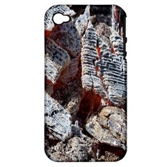 Wooden Hot Ashes Pattern Apple iPhone 4/4S Hardshell Case (PC+Silicone)